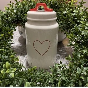 Rae Dunn Red Heart Canister Valentines Feb 2019